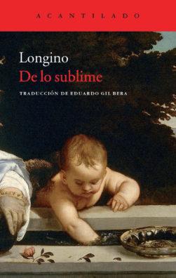 Cubierta del libro De lo sublime