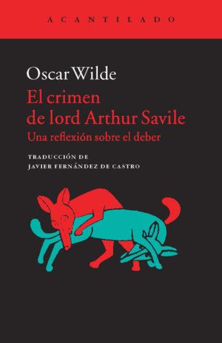 Cubierta del libro El crimen de Lord Arthur Savile