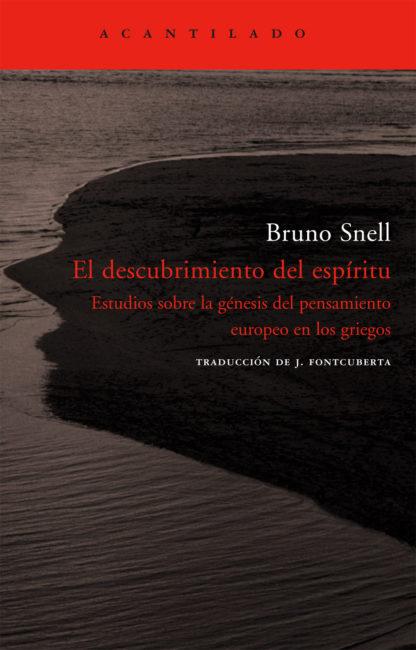 Cubierta del libro El descubrimiento del espíritu