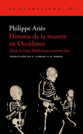 Cubierta del libro Historia de la muerte en Occidente