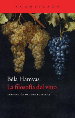 Cubierta del libro La filosofía del vino