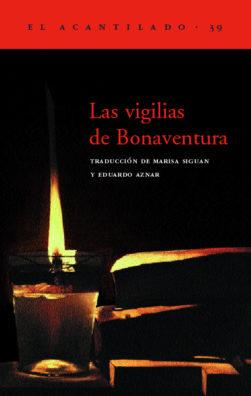 Cubierta del libro Las vigilias de Bonaventura