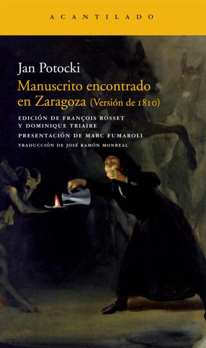 Cubierta del libro Manuscrito encontrado en Zaragoza (Versión de 1810)