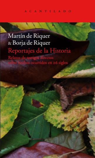 Cubierta del libro Reportajes de la Historia