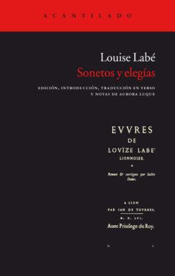 Cubierta del libro Sonetos y elegías