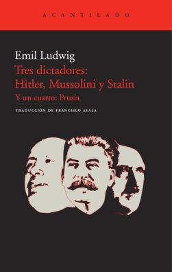 Cubierta del libro Tres dictadores: Hitler