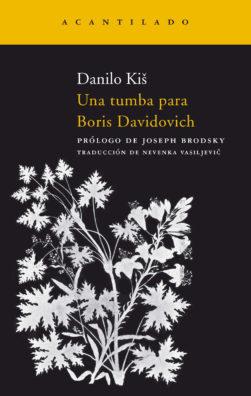 Cubierta del libro Una tumba para Boris Davidovich
