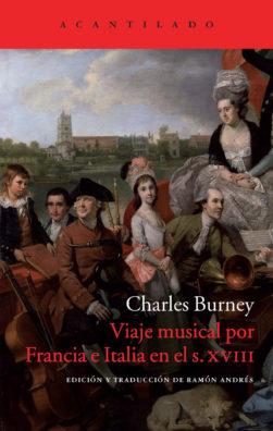 Cubierta del libro Viaje musical por Francia e Italia en el s. XVIII