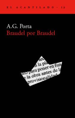 Cubierta del libro Braudel por Braudel