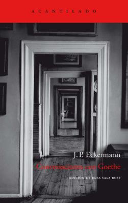 Cubierta del libro Conversaciones con Goethe