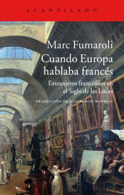 Cubierta del libro Cuando Europa hablaba francés
