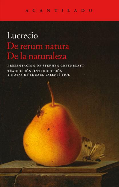 Cubierta del libro De rerum natura De la naturaleza