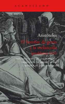 Cubierta del libro El hombre de genio y la melancolía