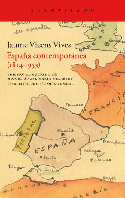 Cubierta del libro España contemporánea (1814-1953)