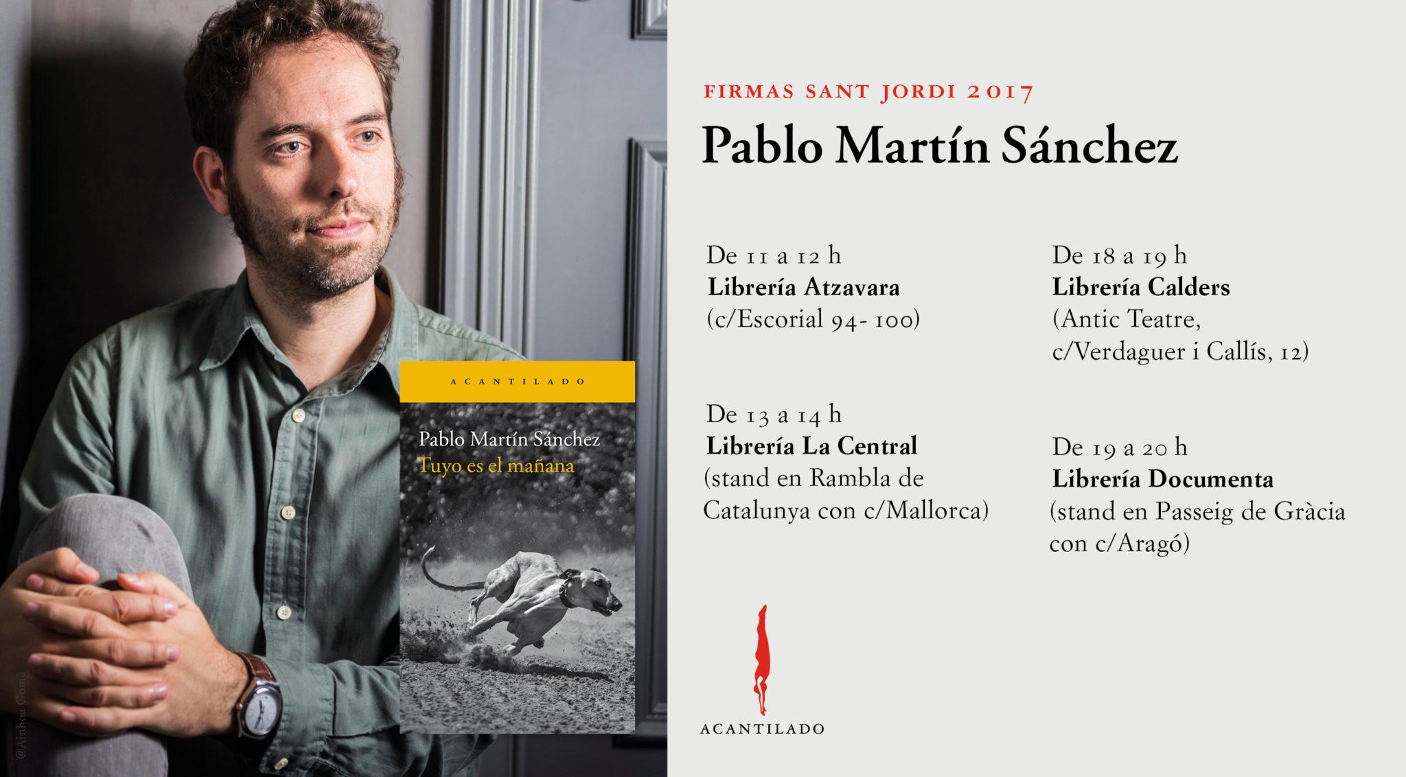 Firma de libros Pablo Martín Sánchez