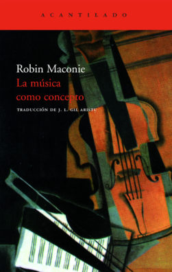 Cubierta del libro La música como concepto