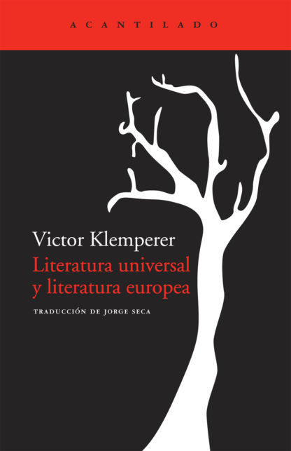 Cubierta del libro Literatura universal y literatura europea