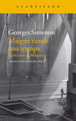 Cubierta del libro Maigret tiende una trampa