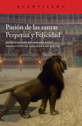 Cubierta del libro Pasión de las santas Perpetua y Felicidad