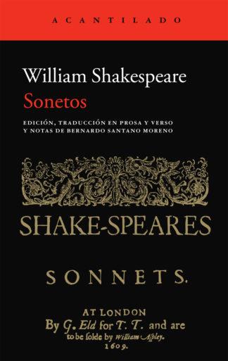 Cubierta del libro Sonetos