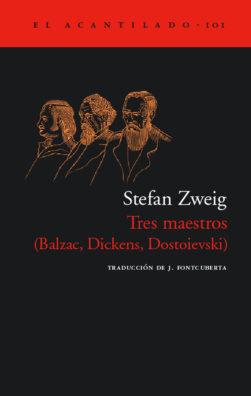 Cubierta del libro Tres maestros
